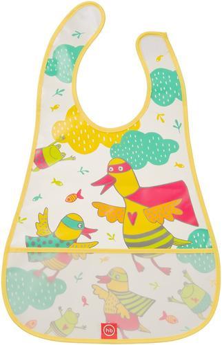 Нагрудник Happy Baby на липучке Waterproof Baby Bib Yellow Duck (3)