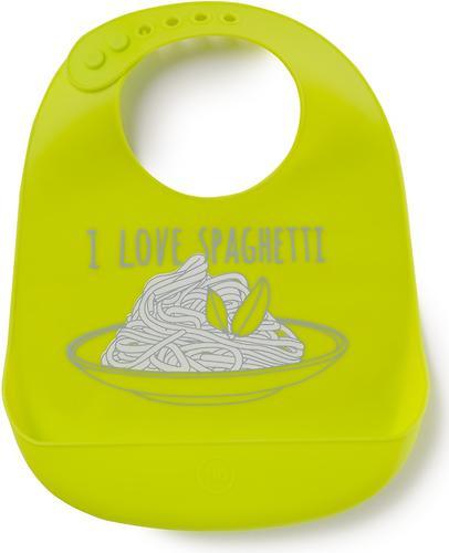 Нагрудник Happy Baby силиконовый Soft Silicone Bib Lime (1)