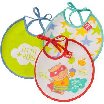 Набор Happy Baby нагрудных фартуков Terry bibs Поросенок - Minim