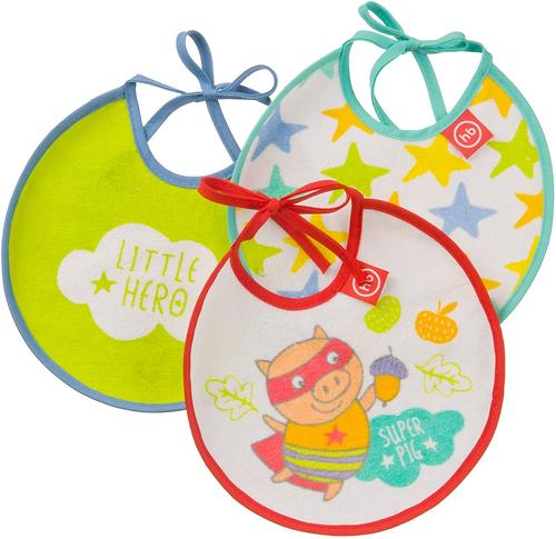 Набор Happy Baby нагрудных фартуков Terry bibs Поросенок (1)