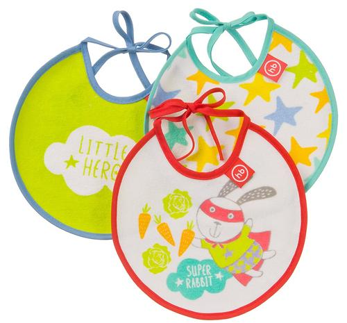 Набор Happy Baby нагрудных фартуков Terry bibs Зайка (1)