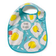 Нагрудник Happy Baby на липучке Waterproof baby bib Голубой