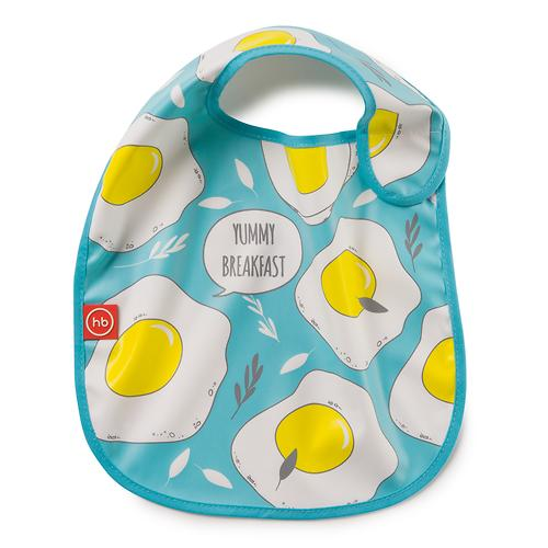 Нагрудник Happy Baby на липучке Waterproof baby bib Голубой (4)