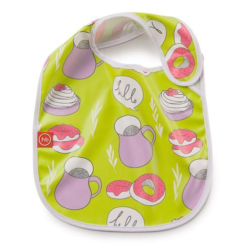 Нагрудник Happy Baby на липучке Waterproof baby bib Салатовый (3)