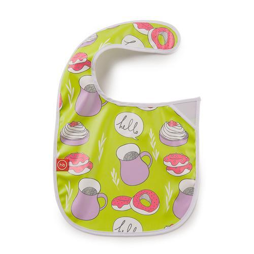 Нагрудник Happy Baby на липучке Waterproof baby bib Салатовый (4)