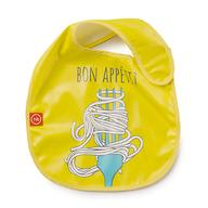 Нагрудник Happy Baby на липучке Waterproof baby bib Желтый