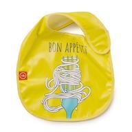 Нагрудник Happy Baby на липучке Waterproof baby bib Желтый