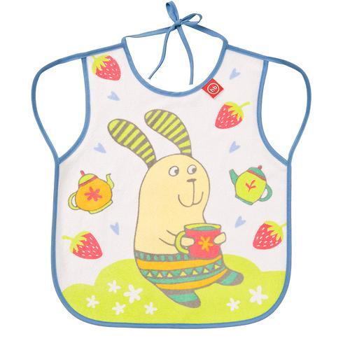 Фартук Happy Baby нагрудный Baby bib with hangers Сиреневый rabbit (3)