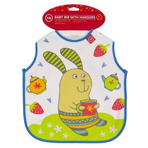 Фартук Happy Baby нагрудный Baby bib with hangers Сиреневый rabbit (4)