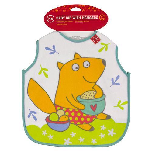 Фартук Happy Baby нагрудный Baby bib with hangers Мятный fox (4)