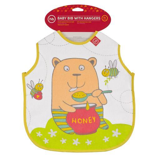Фартук Happy Baby нагрудный Baby bib with hangers Желтый bear (4)
