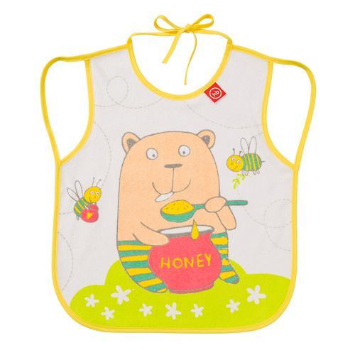 Фартук Happy Baby нагрудный Baby bib with hangers Желтый bear (3)