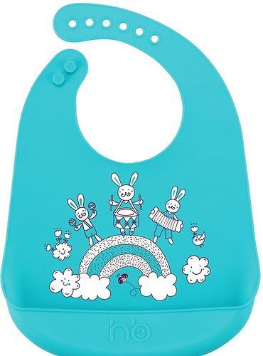 Нагрудник Happy Baby силиконовый Bib Pocket 6+ Blue (1)