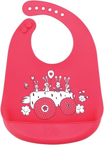 Нагрудник Happy Baby силиконовый Bib Pocket 6+ Red (1)