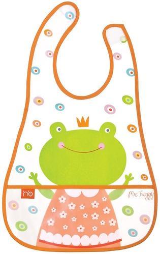 Слюнявчик на липучке Happy Baby Children's bib Mrs Frogg (1)