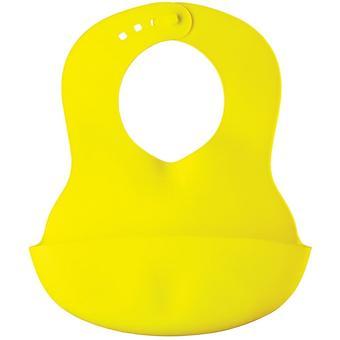 Нагрудник пластиковый мягкий Happy Baby Soft children's bib Lime - Minim