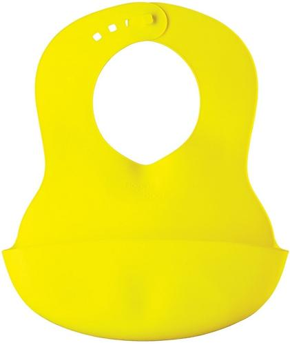 Нагрудник пластиковый мягкий Happy Baby Soft children's bib Lime (3)