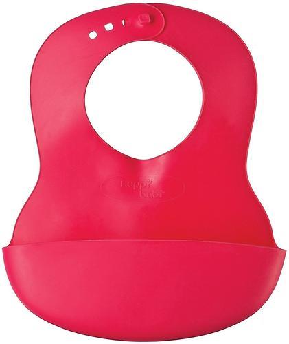 Нагрудник пластиковый мягкий Happy Baby Soft children's bib Red (3)