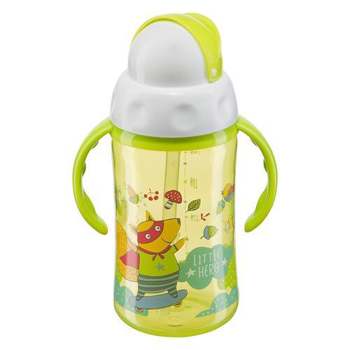 Поильник Happy Baby с трубочкой и ручками Feeding cup 240 мл Салатовый (3)