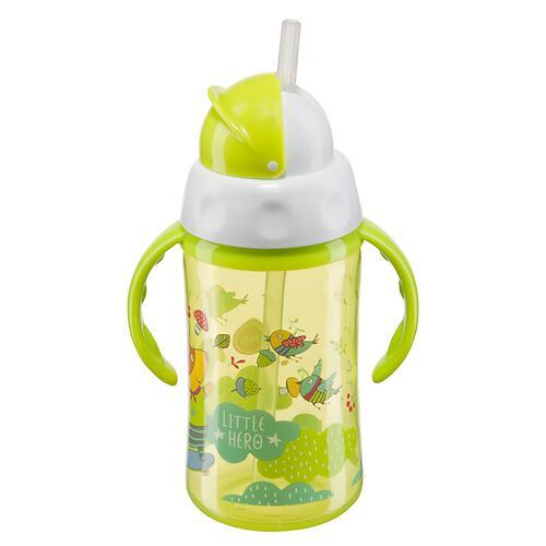Поильник Happy Baby с трубочкой и ручками Feeding cup 240 мл Салатовый (4)