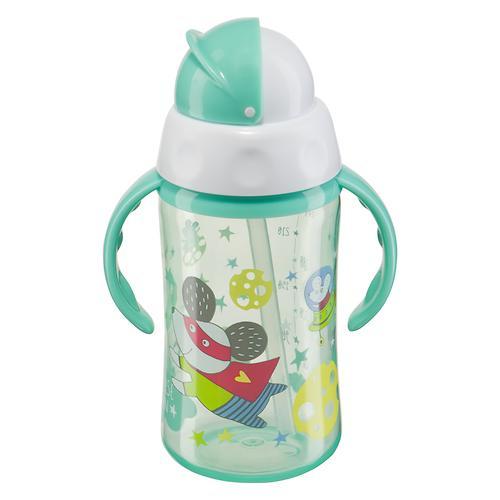 Поильник Happy Baby с трубочкой и ручками Feeding cup 240 мл Мятный (3)