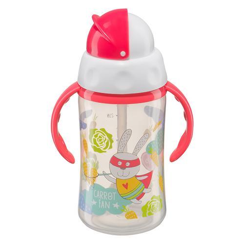 Поильник Happy Baby с трубочкой и ручками Feeding cup 240 мл Красный (3)