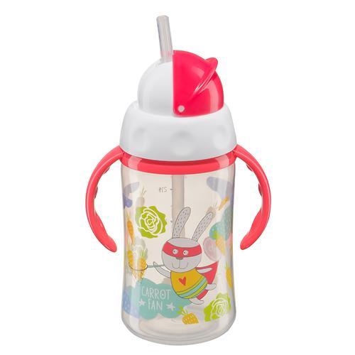 Поильник Happy Baby с трубочкой и ручками Feeding cup 240 мл Красный (4)