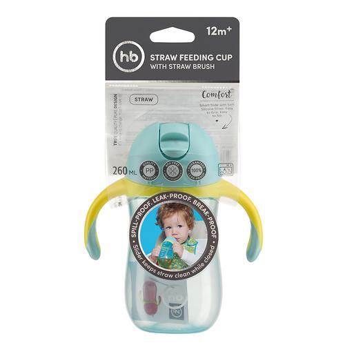 Поильник Happy Baby с трубочкой и ручками Happy Baby Straw Feeding Cup Blue (8)