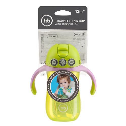 Поильник с трубочкой и ручками Happy Baby Straw Feeding Cup Lime (9)