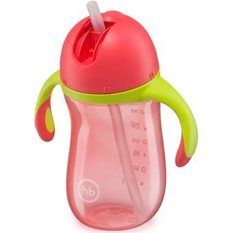 Поильник с трубочкой и ручками Happy Baby Star Feeding Cup Red - Minim