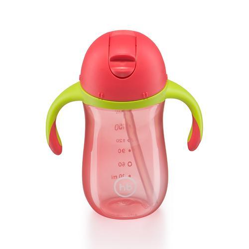 Поильник с трубочкой и ручками Happy Baby Straw Feeding Cup Red (7)