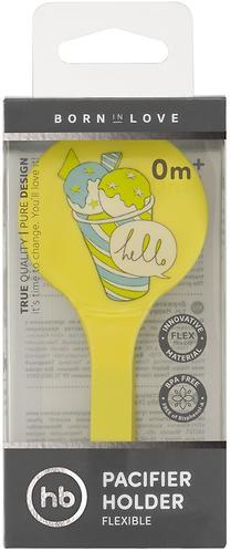 Держатель Happy Baby для пустышки Pacifier Holder Yellow (8)