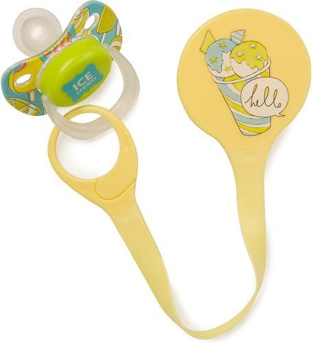 Держатель Happy Baby для пустышки Pacifier Holder Yellow (6)