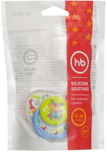 Соска Happy Baby 12-24 мес Baby Soother Natural dental симметричной формы I am a hero (6)