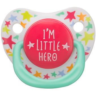 Соска Happy Baby 12-24 мес Baby Soother Natural dental симметричной формы I am a hero - Minim