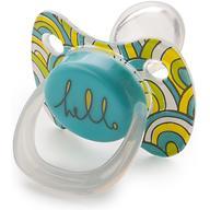 Соска Happy Baby Baby Pacifier 0-12 мес ортодонтической формы c колпачком Blue