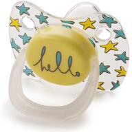 Соска Happy Baby Baby Pacifier 0-12 мес ортодонтической формы c колпачком Yellow