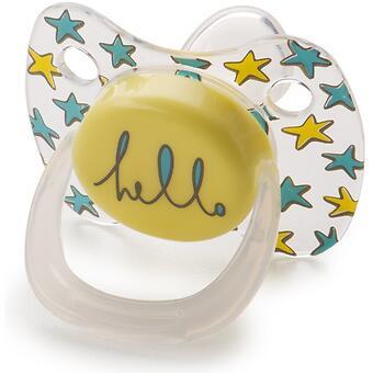 Соска Happy Baby Baby Pacifier 0-12 мес ортодонтической формы c колпачком Yellow - Minim
