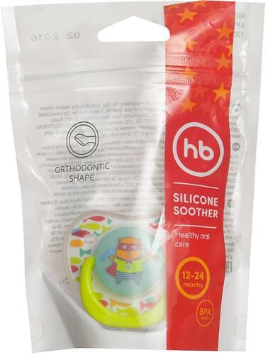 Соска Happy Baby Soother 12-24 мес ортодонтической формы I am a little hero (6)