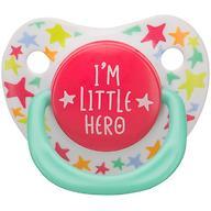 Соска Happy Baby Soother 0-12 мес ортодонтической формы I am a hero