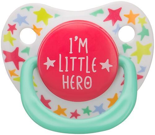 Соска Happy Baby Soother 0-12 мес ортодонтической формы I am a hero (4)