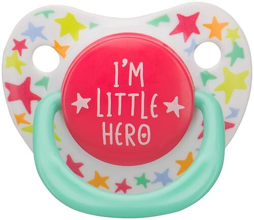 Соска Happy Baby Soother 12-24 мес ортодонтической формы I am a little hero (4)