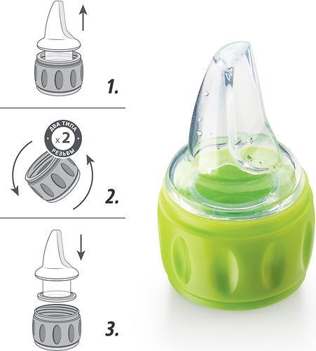 Соска-поильник для бутылок Happy Baby Silicone Spout For Bottles силиконовая (10)
