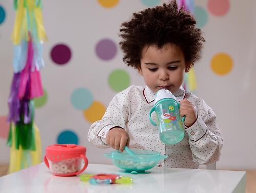 Тарелочка детская на присоске с крышкой Happy baby Feeding Bowl Yellow (6)