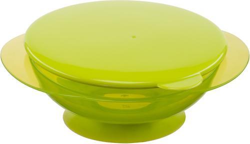 Тарелочка детская на присоске с крышкой Happy baby Feeding Bowl Lime (4)