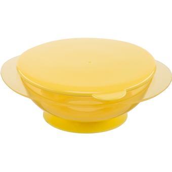 Тарелочка детская на присоске с крышкой Happy baby Feeding Bowl Yellow - Minim