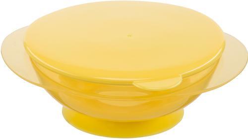 Тарелочка детская на присоске с крышкой Happy baby Feeding Bowl Yellow (4)