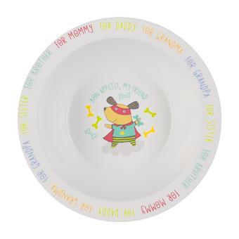 Тарелка Happy Baby глубокая Feebing bowl Собачка - Minim