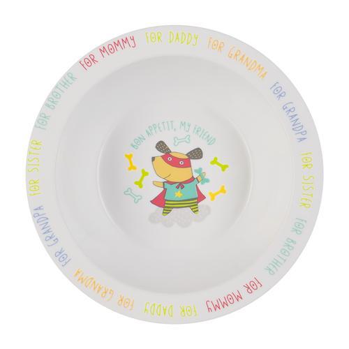 Тарелка Happy Baby глубокая Feebing bowl Собачка (1)