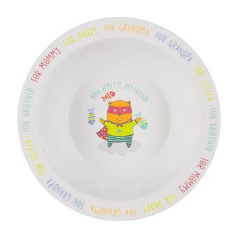 Тарелка Happy Baby глубокая Feebing bowl Кошка - Minim